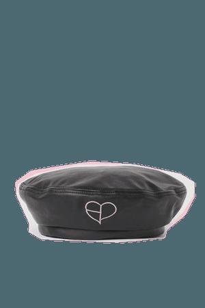 Faux Leather Beret - Black/Blackpink - Ladies   H&M US