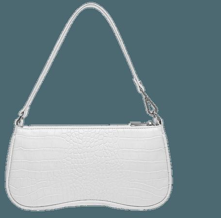 white baguette shoulder bag