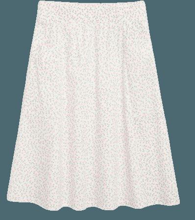 Cotton midi skirt - Floral print - Midi skirts - Monki WW