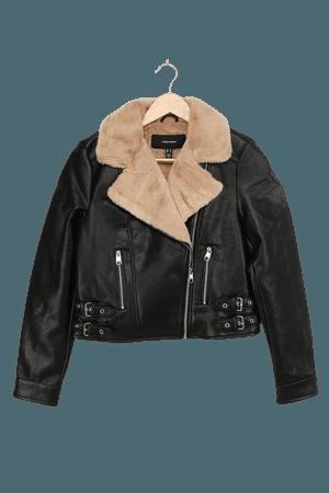Vero Moda Ellie Rosa Black - Moto Jacket - Vegan Leather Jacket - Lulus