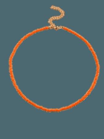 Orange Beaded Necklace | SHEIN UK