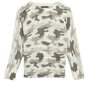 Supersoft Camo Crew Neck Jumper   M&S Collection   M&S