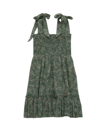 Aerie All Day Printed Smocked Dress