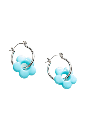 Catalina Flower Charm Hoop Earring | Urban Outfitters