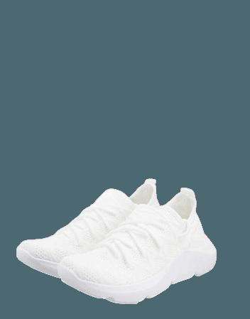 ASOS DESIGN Dewi knit sneakers in white | ASOS