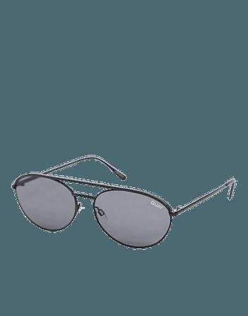Quay Australia Easily Amused aviator sunglasses in black | ASOS