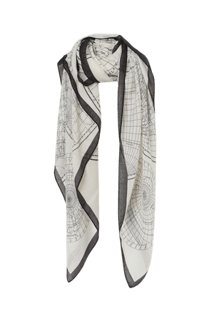 Patterned Scarf - Gray