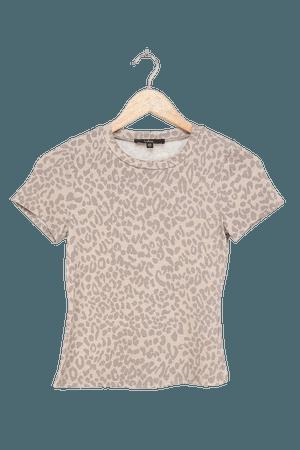 Cute Light Grey Tee - Leopard Print Top - Animal Print T-Shirt - Lulus