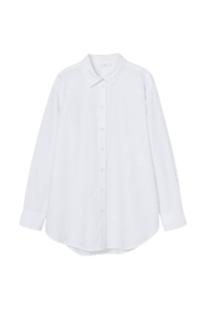 Oversized Oxford Shirt - White