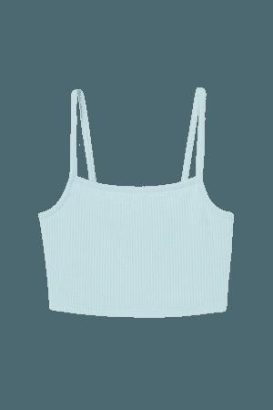 Crop Top - Turquoise - Ladies | H&M US