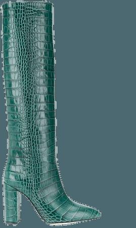 Paris Texas crocodile-effect knee-high Boots - Farfetch
