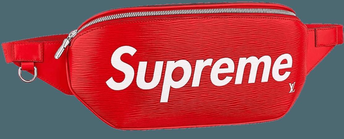 red supreme belt bag