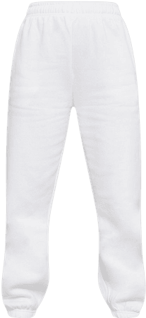 White Sweat Pant Joggers | Trousers | PrettyLittleThing