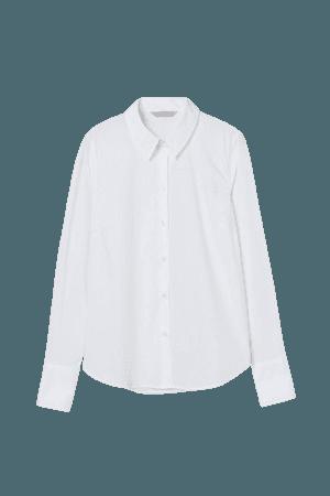 Cotton-blend Shirt - White