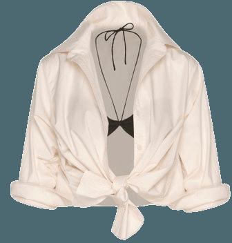 Atonement Cotton Shirt With Bralette By Johanna Ortiz | Moda Operandi