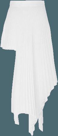 peter do white pleated skirt