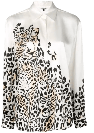 Krizia leopard print shirt