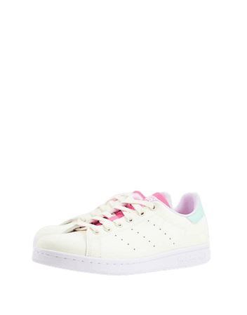adidas Originals Vegan Stan Smith sneakers in white with color pops | ASOS