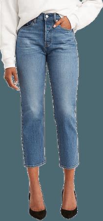 Wedgie High Waist Crop Straight Leg Jeans | Nordstrom