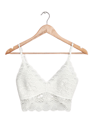 Free People Sunrise to Sunset Bra - Ivory Crochet Lace Bralette