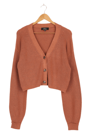 Rose Cardigan Sweater - Cropped Cardigan - Knit Cardigan Sweater - Lulus