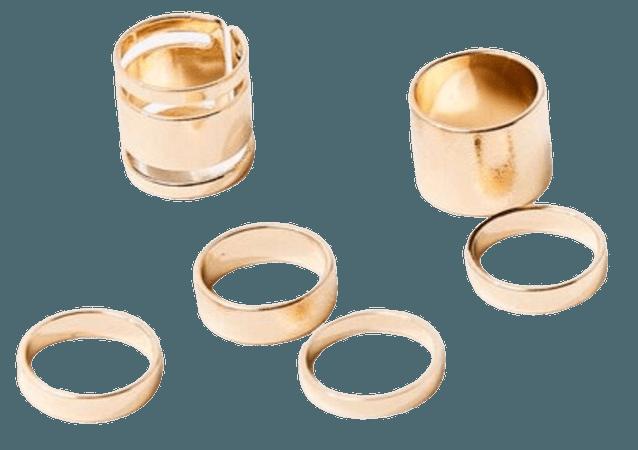 Gold ring set