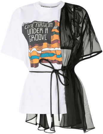 Sacai Deconstructed Sheer T-shirt - Farfetch