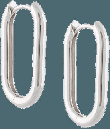 Eshvi Oval Hoop Earrings - Farfetch