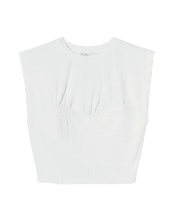 Sleeveless corset top - Tees and tops - Woman | Bershka