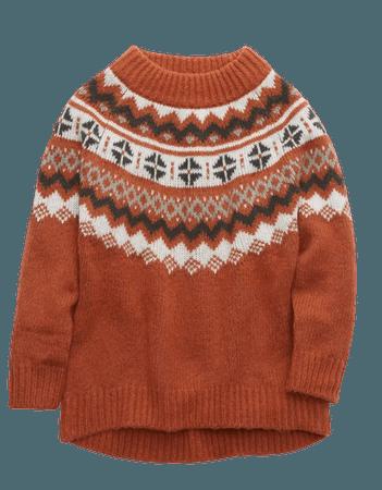 Aerie Fairisle Sweater orange