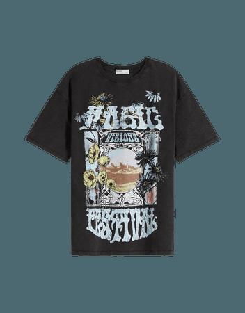 Short sleeve magic festival T-shirt - Tees and tops - Woman   Bershka