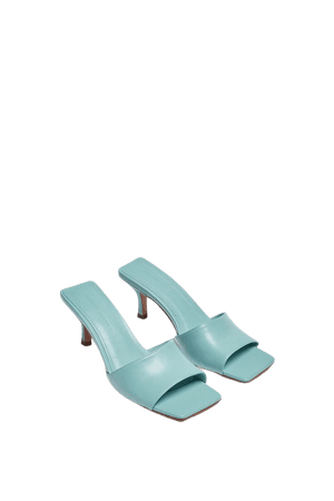 Heeled sandals with square toe - pull&bear