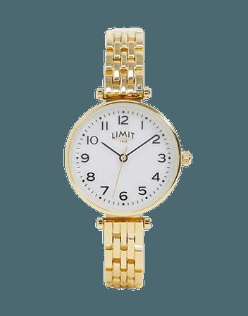 Limit bracelet watch in gold | ASOS