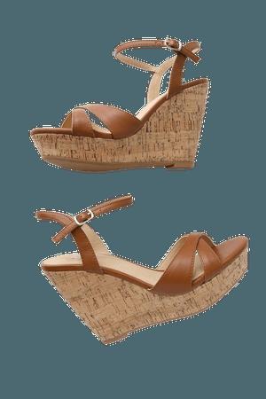 Cute Tan Sandals - Wedge Sandals - Cork Sandals - Lulus