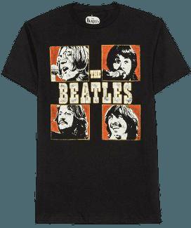 Men's The Beatles Short Sleeve Graphic T-Shirt - Black S : Target