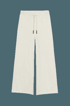 Wide-leg Joggers - Beige