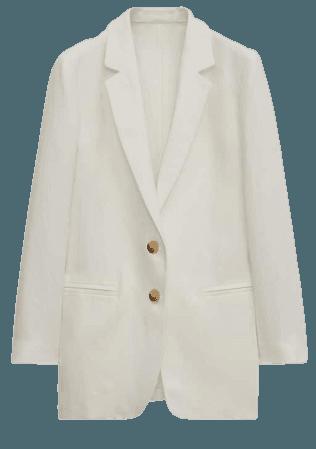 100% linen blazer - Women - Massimo Dutti
