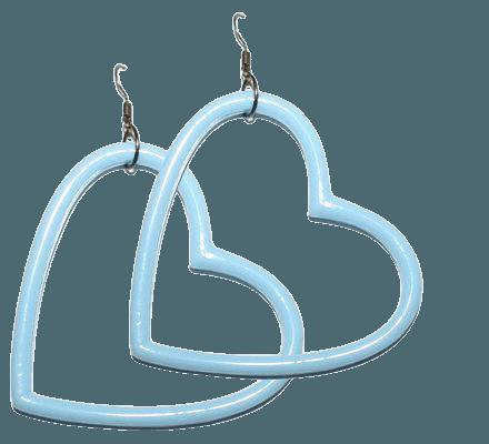 Pastel Grunge Pink or Blue Big Heart Earrings huge kawaii | Etsy