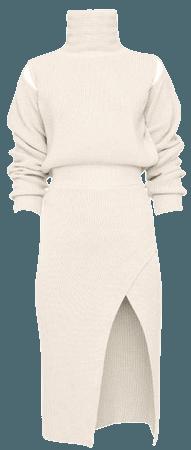 Cutout Knit Wool-Blend Midi Dress By Brandon Maxwell | Moda Operandi