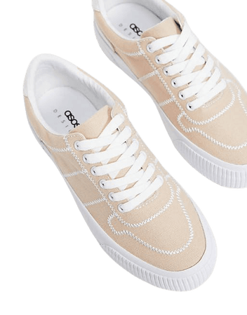 ASOS DESIGN Dekko sneakers in natural | ASOS
