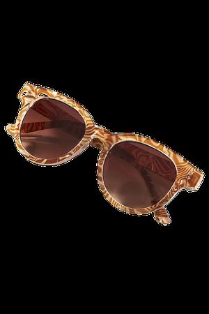 Ripple Round Sunglasses | Anthropologie