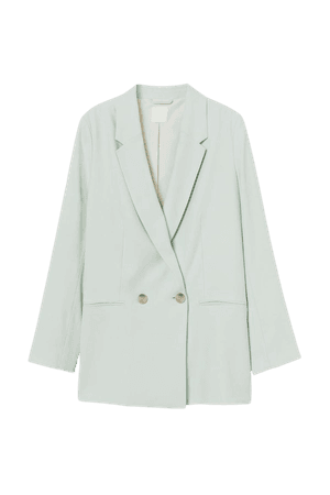 Double-breasted Jacket - Mint green - Ladies | H&M US