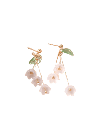 Flower Decor Drop Earrings | SHEIN USA