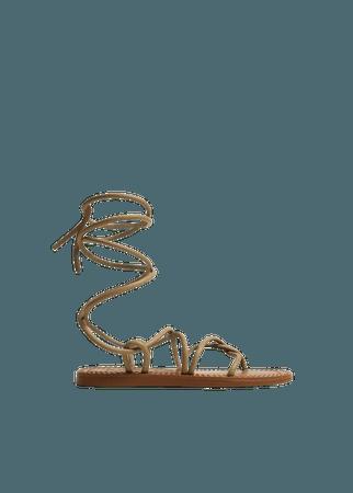 Criss-cross straps sandals - Women | Mango USA