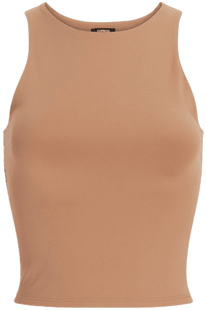Body Contour High Compression Cropped High Neck Tank | Express