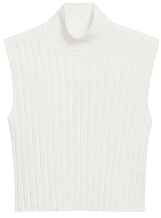 Cropped turtleneck - Cream - Knitted tops - Monki WW