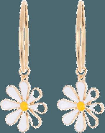 BP. Daisy Drop Hoop Earrings | Nordstrom