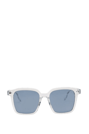 Clear Square Frame Tinted Sunglasses | Nasty Gal