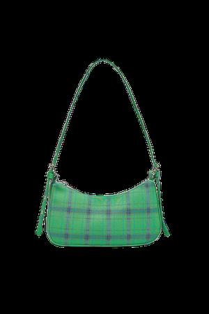 Plaid shoulder bag - pull&bear
