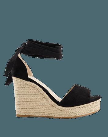 Glamorous wedge espadrille sandals in black | ASOS